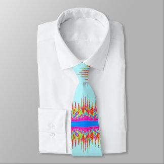 Gravata Cores da mágica do arco-íris dos azul-céu