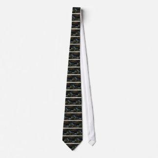 Gravata córrego verde escuro