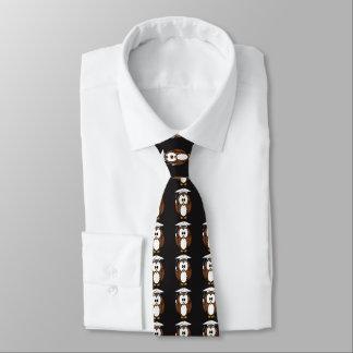 Gravata Coruja com o laço do pescoço do boné de formatura