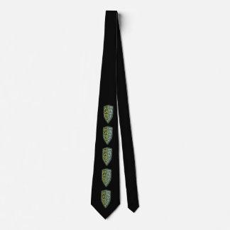 Gravata Crista do laço do protetor da grama no preto