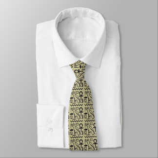Gravata Crochet dos Hieroglyphs de Ankh da coruja por todo