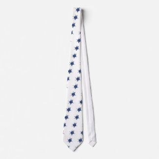 Gravata Dado-Átomo (preto, azuis)