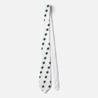 Gravata Dado-Átomo (preto, verde)