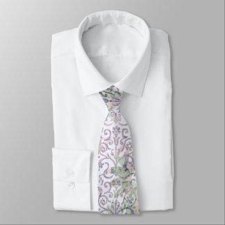 Gravata Damasco floral da lavanda