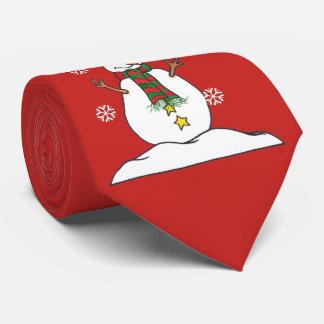 Gravata Deixais lhe para nevar - boneco de neve - laço