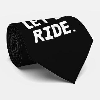 Gravata Deixe-nos montar o humor do ciclista da cidade e