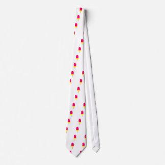 Gravata Desenho cor-de-rosa do Popsicle