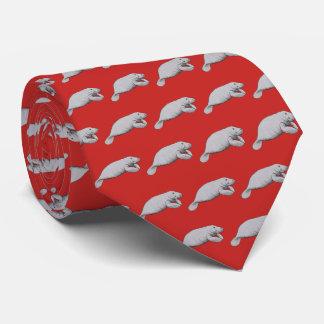 Gravata Desenho do peixe-boi do vintage