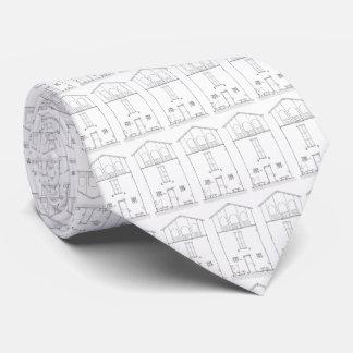 Gravata Desenho preto e branco moderno da casa rústica