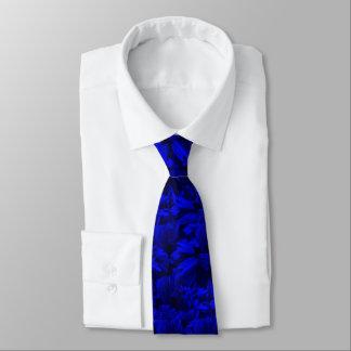 Gravata Design abstrato azul A202 e preto rico