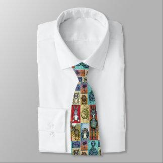 Gravata Design animal bonito da arte popular da colagem