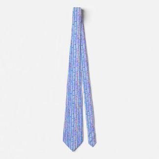 Gravata Design azul do abstrato do vidoeiro