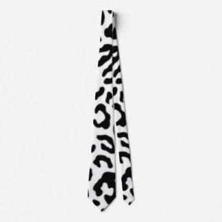 Gravata Design branco preto do impressão do teste padrão