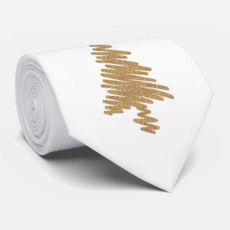 Gravata Design contemporâneo da árvore de Natal do ouro