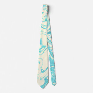 Gravata Design de mármore legal na turquesa e no creme