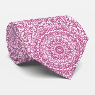 Gravata Design do caleidoscópio do rosa da mandala do