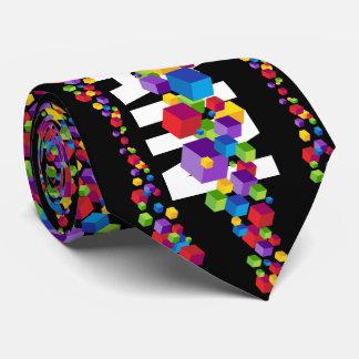 Gravata Design do cubo de Blockchain