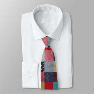 Gravata design do tecido dos retalhos do estilo do vintage