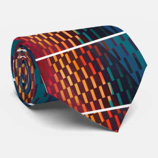 Gravata Design geométrico colorido -