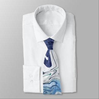 Gravata Design moderno do abstrato do azul