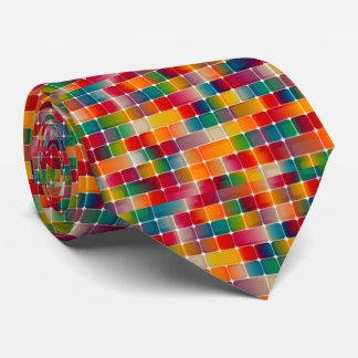 Gravata Design quadrado colorido do teste padrão