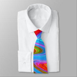 Gravata Design verde vermelho moderno amarelo e do roxo do