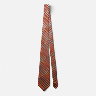 Gravata Diagonal listrada vermelha de Ombre