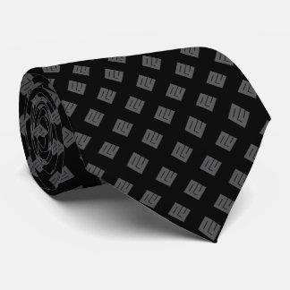 Gravata Diamante cinzento no preto