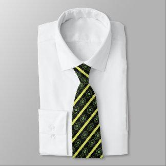 Gravata Diamante verde listrado