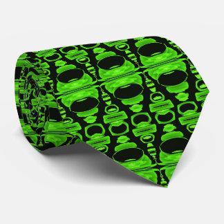 Gravata Divisores abstratos 02 do teste padrão verdes e