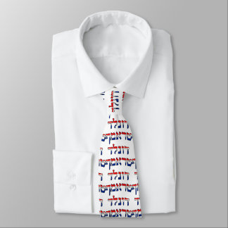 Gravata Donald Trump no hebraico vermelho, branco & azul