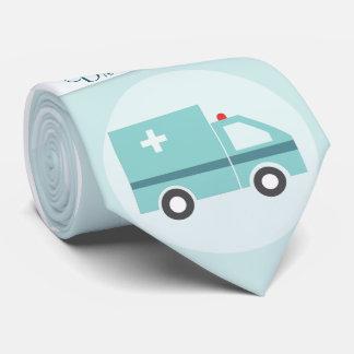 Gravata Doutor engraçado Médico Médico Monograma
