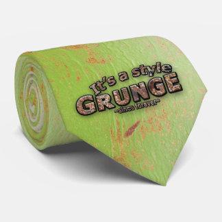 Gravata É meus letras & fundo oxidados do GRUNGE do estilo