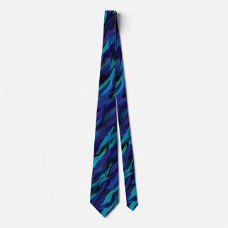 Gravata Efeito de mármore roxo e azul
