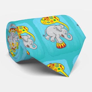 Gravata Elefante irritado do circo que diz palavras más
