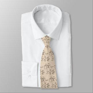 Gravata Esboço de Basset Hound no fundo de papel do olhar