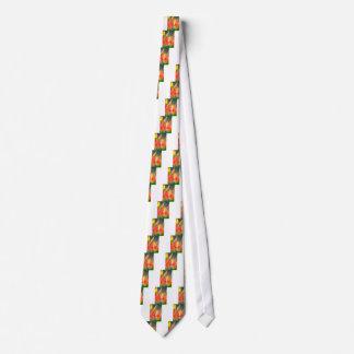 Gravata Esboço vermelho e amarelo da tulipa