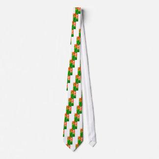 Gravata Esboço vermelho e amarelo verde da tulipa