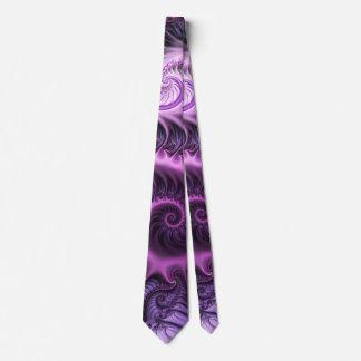 Gravata Espiral roxa cor-de-rosa legal da arte do Fractal