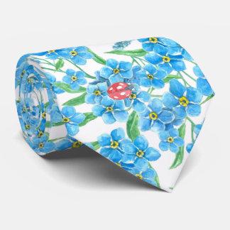 Gravata Esqueça-me teste padrão floral nao sem emenda