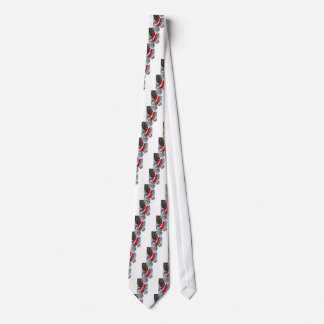 Gravata Estoque vermelho brilhante do papai noel