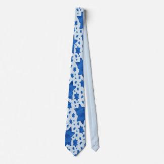 Gravata Estrela de David azul da aguarela