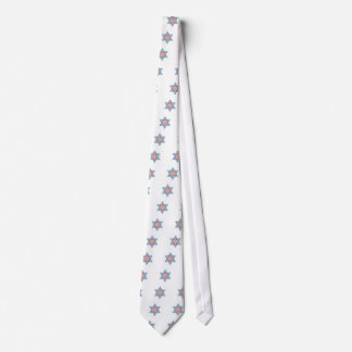 Gravata Estrela de David azul e magenta do vintage - Magen