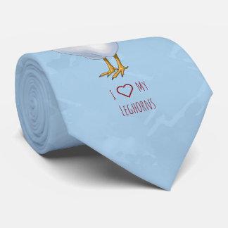 Gravata Eu amo meu fazendeiro da galinha da legorne