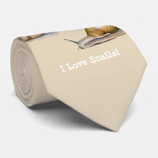 Gravata Eu amo o design do caracol dos caracóis
