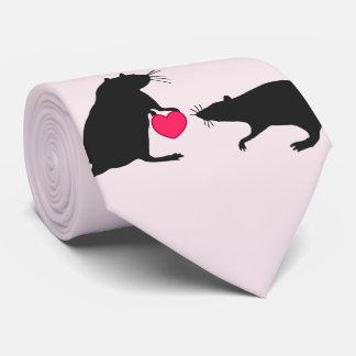 Gravata Eu amo ratos e amam-me
