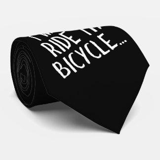 Gravata Eu quero montar minha bicicleta