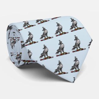 Gravata Falcão heráldico da caça que veste a capa C do