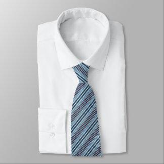 Gravata Falso azul Denin listrado