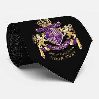 Gravata Feito seu próprio emblema da coroa do monograma da